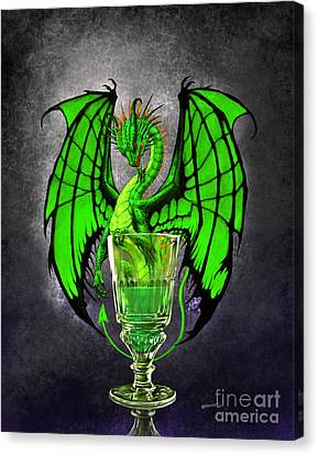 Absinthe Dragon Canvas Print by Stanley Morrison