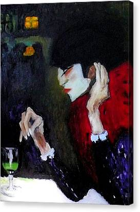 Absinthe Drinker After Picasso Canvas Print