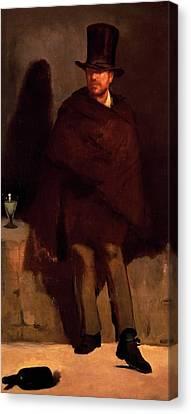 Absinthe Drinker Canvas Print by Edouard Manet