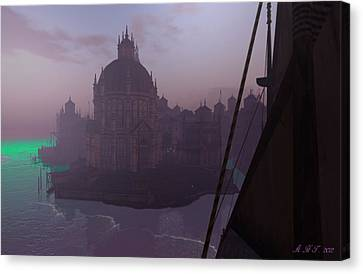 Absinthian Sea Canvas Print by Amanda Holmes Tzafrir