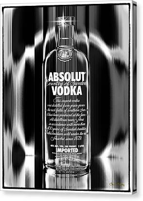 Absolut Black And White Canvas Print by Chuck Staley