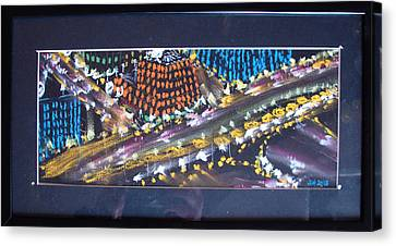 Canvas Print featuring the drawing Absrtract Traffic by Joseph Hawkins