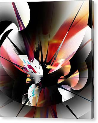 Canvas Print featuring the digital art Abstract 082214 by David Lane