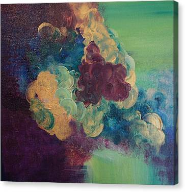 Canvas Print featuring the painting Abstract 1 by Kristine Bogdanovich