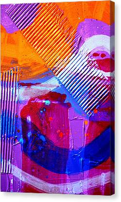 Abstract  19614 Cropped IIi Canvas Print by John  Nolan