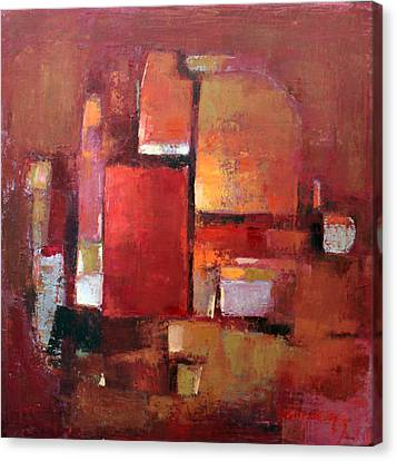 Pallet Knife Canvas Print - Abstract 2015 05 by Becky Kim