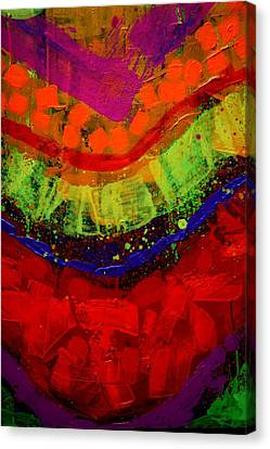 Abstract 23614 Cropped I Canvas Print