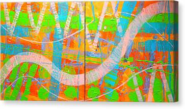 Abstract  23614 Diptych I And II Canvas Print