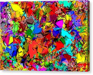 Canvas Print featuring the digital art Astratto - Abstract 50 by ZeDi