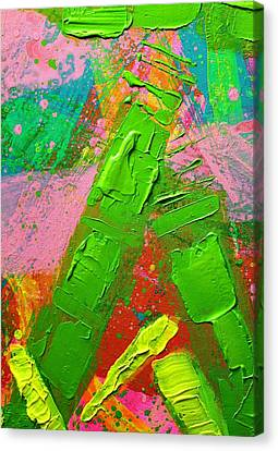 Abstract 6814 Diptych Cropped Xvii Canvas Print by John  Nolan