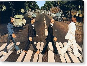 Abstract Abbey Road The Beatles Canvas Print by Dan Sproul