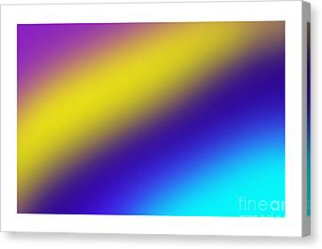 Abstract And Polychromatic Composition  Canvas Print by Enrique Cardenas-elorduy