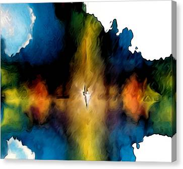 Abstract Angel Canvas Print by Ron Cantrell