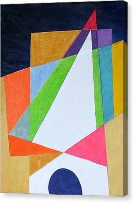 Abstract Angles Xi Canvas Print