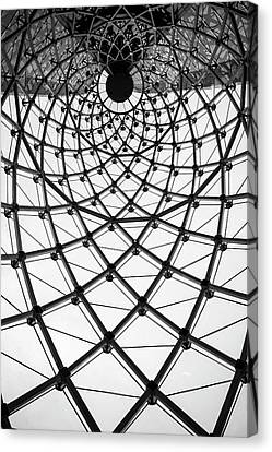 Abstract Architecture Curved Steel Beam Canvas Print by Tapanuth