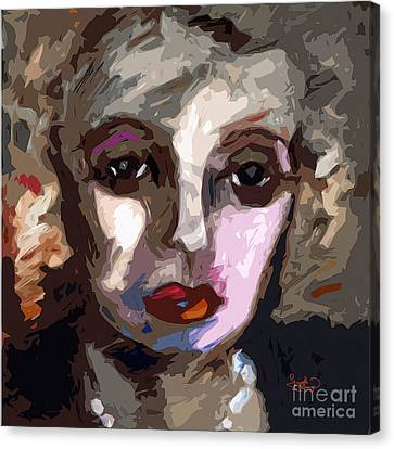 Abstract Art Bette Davis Eyes  Canvas Print by Ginette Callaway