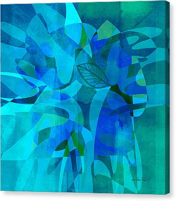 abstract - art- Blue for You Canvas Print by Ann Powell