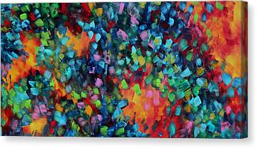 Abstract Art Bold Colorful Modern Art Original Painting Color Blast By Madart Canvas Print by Megan Duncanson