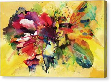 Abstract Art Canvas Print by Catf