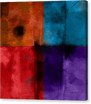 abstract - art- Color Block Square Canvas Print by Ann Powell