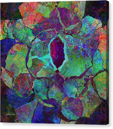 Abstract Art Colorful Collage Canvas Print by Ann Powell