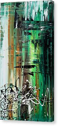Abstract Art Colorful Original Painting Green Valley By Madart Canvas Print by Megan Duncanson