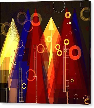 Abstract Art Deco Canvas Print