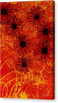 abstract - art- flowers - Daisies  Canvas Print by Ann Powell