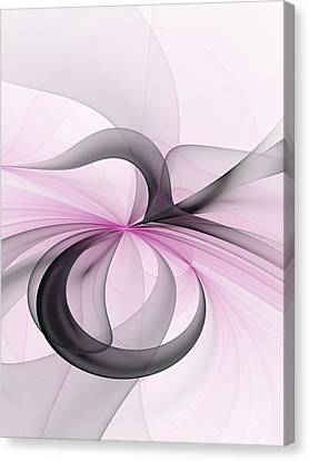 Abstract Art Fractal With Pink Canvas Print