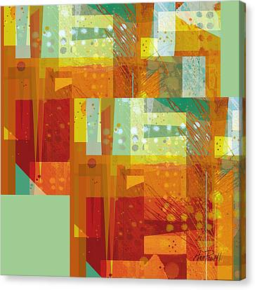 abstract - art- Intersect Orange   Canvas Print by Ann Powell