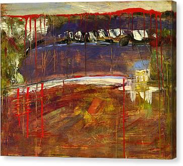 Abstract Art Landscape Canvas Print by Blenda Studio
