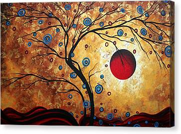 Chocolate Canvas Print - Abstract Art Landscape Tree Metallic Gold Texture Painting Free As The Wind By Madart by Megan Duncanson