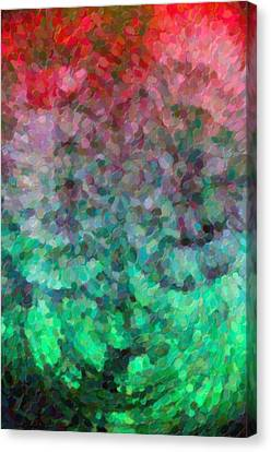 Abstraction Canvas Print - Abstract Art Mixed Colors by Tommytechno Sweden