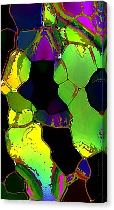 Abstract Art Of Greenish Composition In Digital Art Canvas Print by Mario Perez