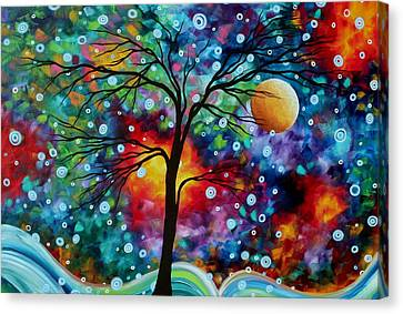 Abstract Art Original Colorful Landscape Painting A Moment In Time By Madart Canvas Print by Megan Duncanson