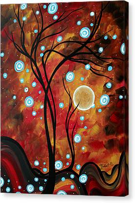 Abstract Art Original Landscape Circle Painting Fairy Dust By Madart Canvas Print by Megan Duncanson