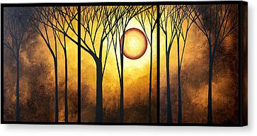 Abstract Art Original Landscape Golden Halo By Madart Canvas Print by Megan Duncanson