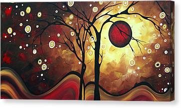 Abstract Art Original Landscape Painting Catch The Rising Sun By Madart Canvas Print by Megan Duncanson