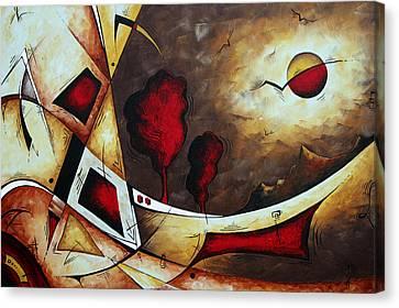 Abstract Art Original Landscape Painting Cosmic Destiny By Madart Canvas Print