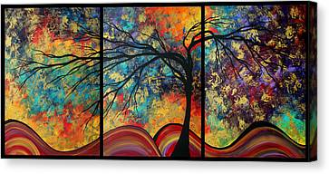 Abstract Art Original Landscape Painting Go Forth By Madart Canvas Print by Megan Duncanson