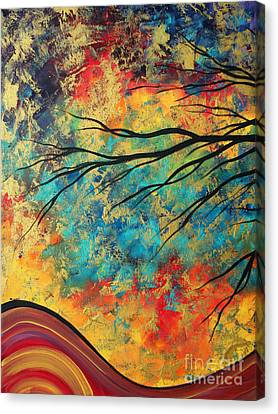 Abstract Art Original Landscape Painting Go Forth I By Madart Studios Canvas Print by Megan Duncanson