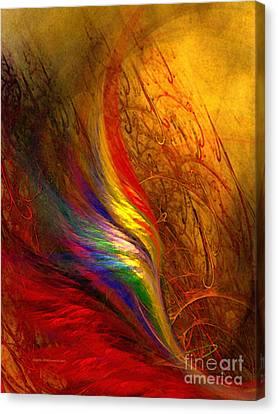 Abstract Art Print Sayings Canvas Print