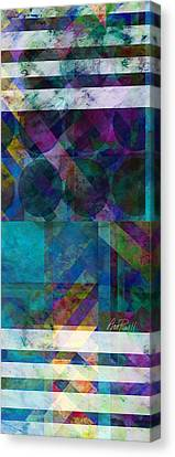 abstract - art - Stripes Five  Canvas Print by Ann Powell