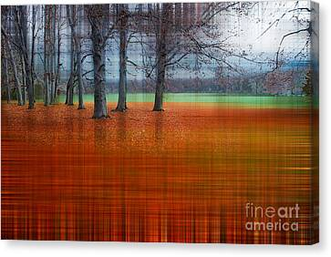 Hannes Cmarits Canvas Print - abstract atumn II by Hannes Cmarits