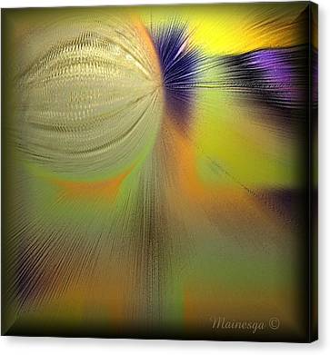 Abstract-b-e-g Canvas Print by Ines Garay-Colomba