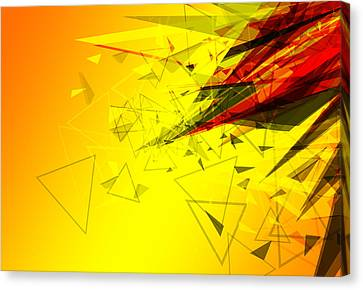 Abstract Background Design  Canvas Print by Ratchapon Yanyongdecha
