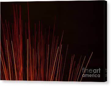 Abstract Background Of Red Sticks Canvas Print