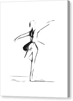 Abstract Ballerina Dancing Canvas Print