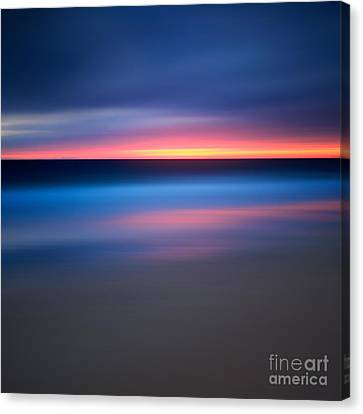 Abstract Beach Sunset Canvas Print by Katherine Gendreau