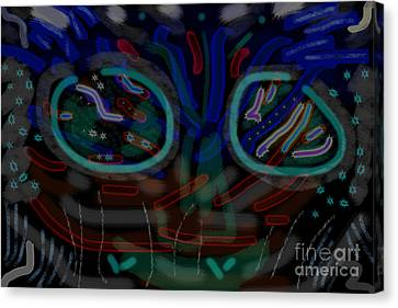 Abstract Black Blue Canvas Print